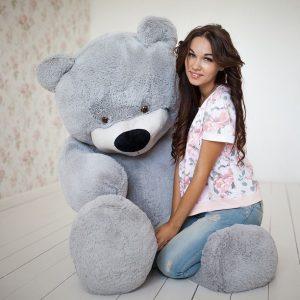 Мишка серый 200 см — Плюшевые медведи