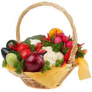 Корзина с овощами №3 — Съедобные букеты
