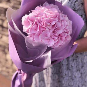 Букет из одной розовой гортензии — Букеты цветов