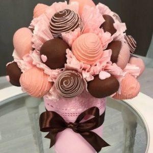 Клубника в шоколаде «Джерси» — Съедобные букеты