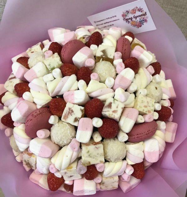 Зефирно-мармеладный букет — Букеты из сладостей