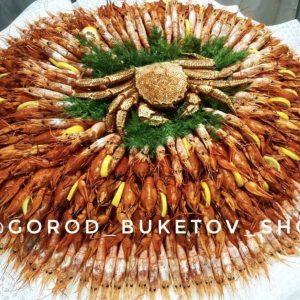 Букет из морепродуктов XXXL — Букеты из креветок для мужчин