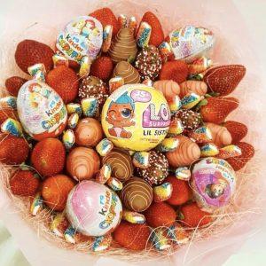 Букет из клубники в шоколаде — Съедобные букеты