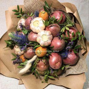 Настоящий овощной букет! — Букеты из овощей