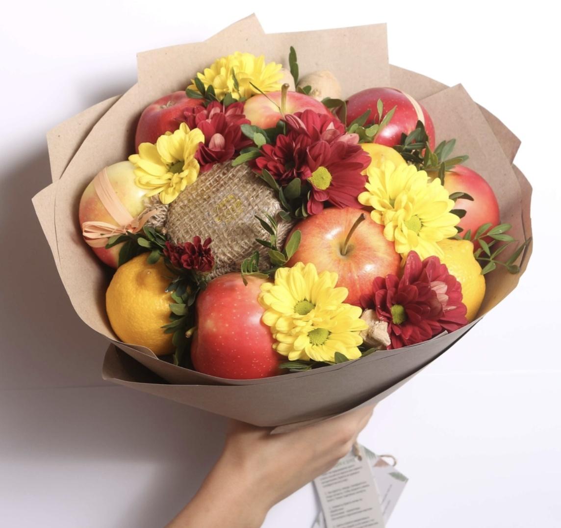 Разные букеты из цветов и фруктов спб, лавка серпуховская букеты