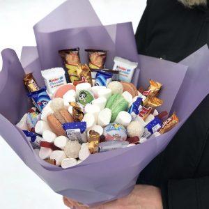 Сладкий букет для самых близких — Букеты из сладостей