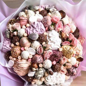 Шоколадно-ягодный букет «Фонтан» — Акции и скидки