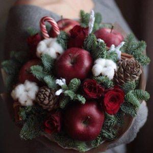 Новогодний букет — Букеты из фруктов