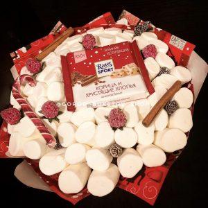 Новогодний букет из сладостей — Букеты из сладостей