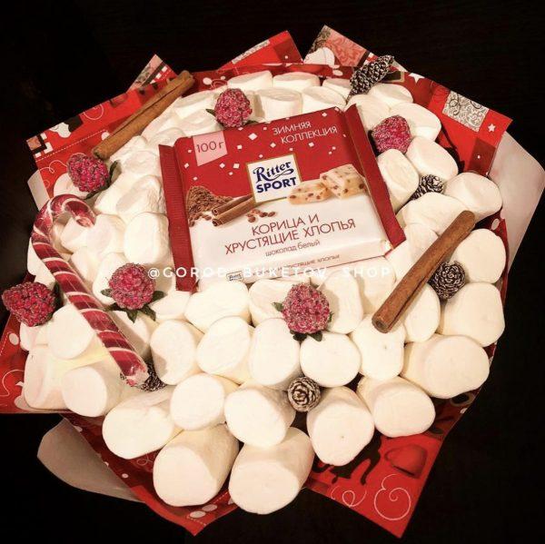 Новогодний букет из сладостей