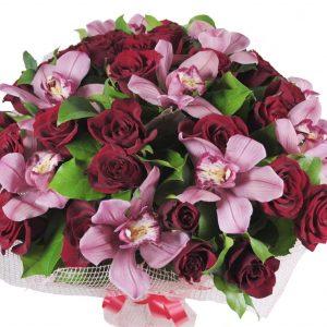 """Букет """"Пандора"""" из роз и орхидей"""
