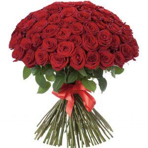Букет цветов из 101 розы (70см) — Букеты цветов