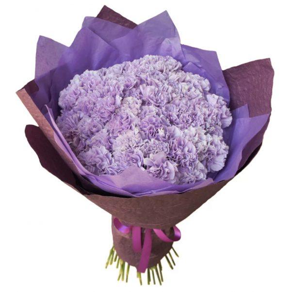 Букет из сиреневых гвоздик — Букеты цветов