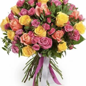 Букет из роз микс — Букеты цветов