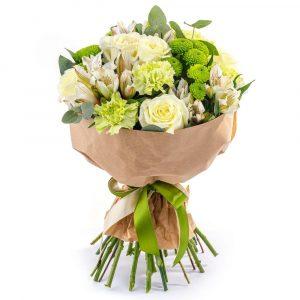 Букет из роз и гвоздик — Букеты цветов