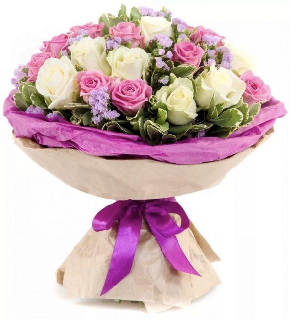 Нежный букет из роз — Букеты цветов