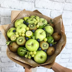 Фруктовый букет «Зеленый пирог» — Акции и скидки