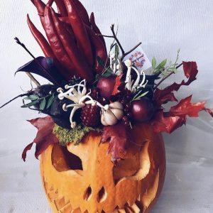 """Тыква на хэллоуин """"Ведьма"""""""