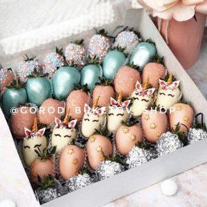 Набор клубники в шоколаде «Единорожки» — Клубника в шоколаде