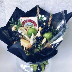 Сырно-фруктовый букет «Де Франсе» — Мужские букеты