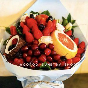 Фруктовый букет «Голубая лагуна» — Букеты из фруктов