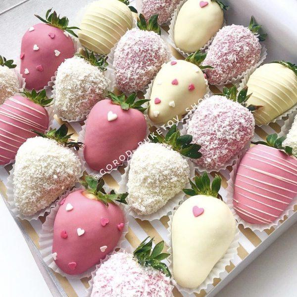 Набор из клубники в шоколаде «Ля Флёр»