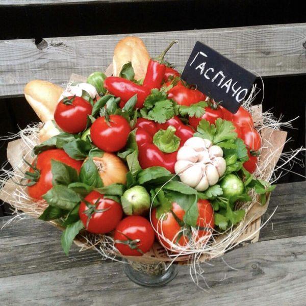 Овощной букет «Гаспачо» — Букеты из овощей
