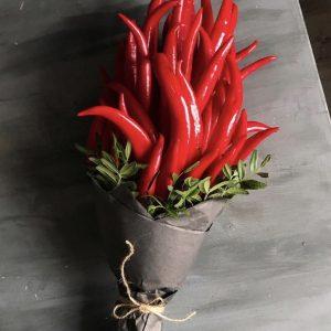 Острый букет из перцев — Букеты из овощей