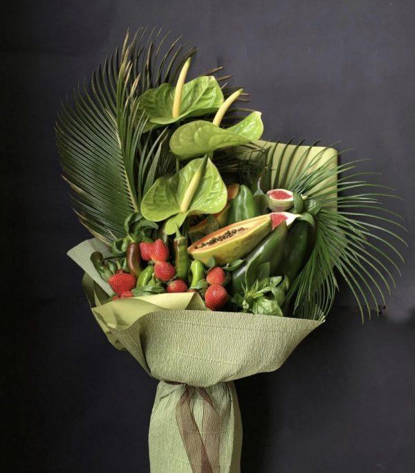 Зеленый букет «Мандрагора» — Арт-букеты
