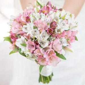 Свадебный букет из альстромерий