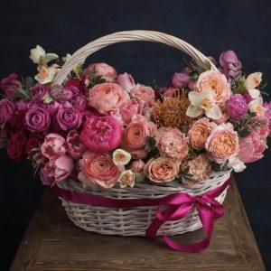 """Корзина из цветов """"Сияние"""""""
