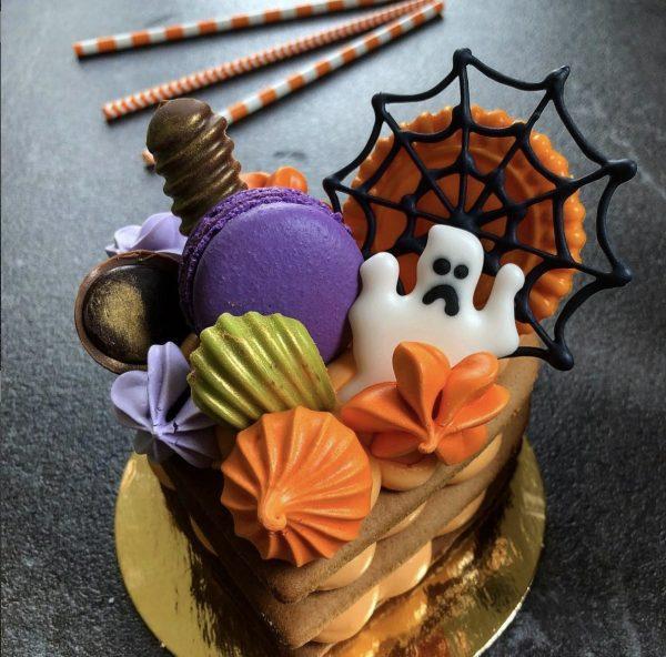 Мини-торт пирожное на хэллоуин — Кондитерские изделия