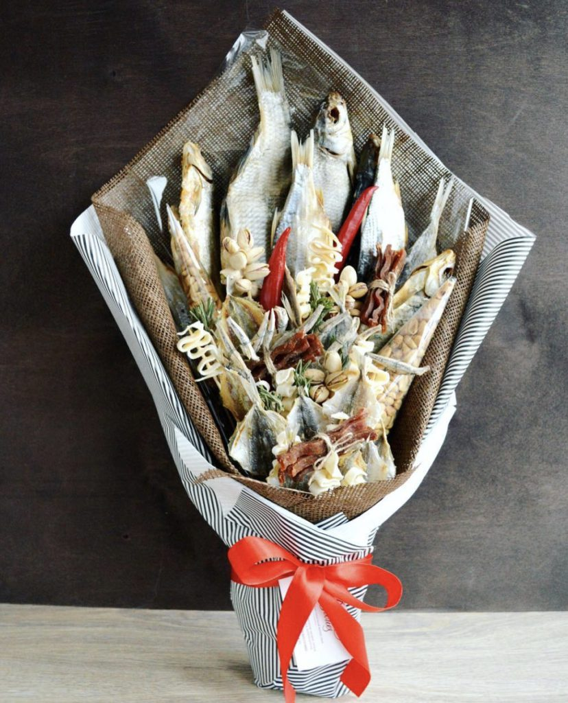 Мужской букет из рыбы купить, букеты цветов