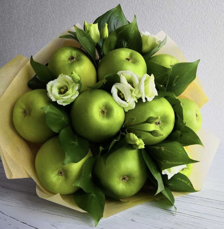 картинки букет из яблок размеры фотографий доступны