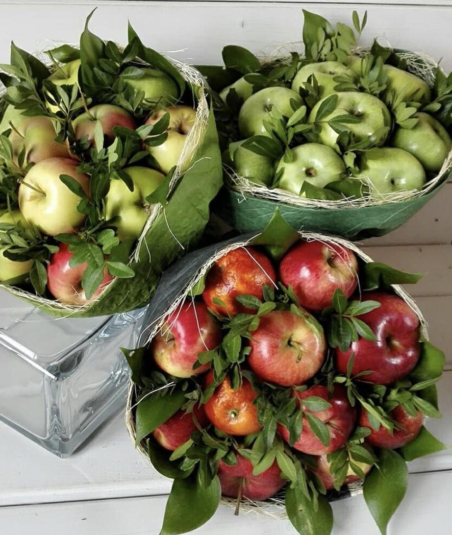 Оптовка цветы, букет с яблоками своими руками
