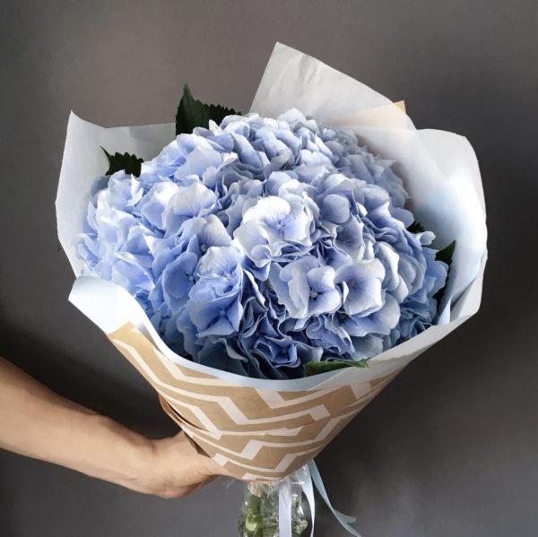 Букет из голубых гортензий — Букеты цветов