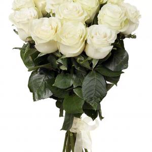 Букет из 15 белых роз — Букеты цветов