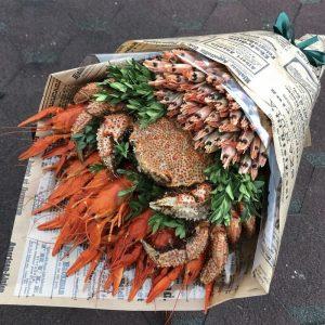 Букет из морепродуктов «Бриз» — Мужские букеты