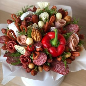 Букет из мяса «Москва» — Мужские букеты