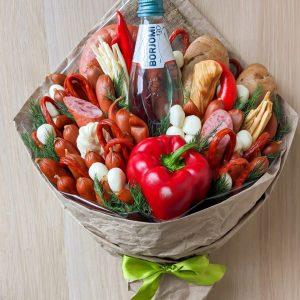 Колбасный букет «Гурман» — Мужские букеты