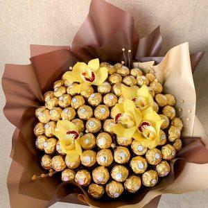 Сладкий букет из орхидей — Орхидеи
