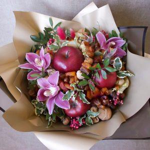 Букет из сухофруктов и орхидей — Акции и скидки