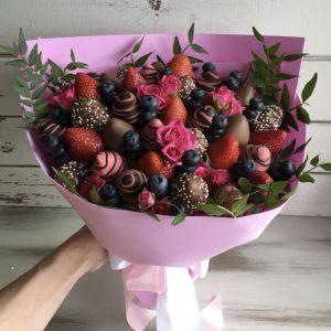 Букет с клубникой «Шоколад» — Клубника в шоколаде