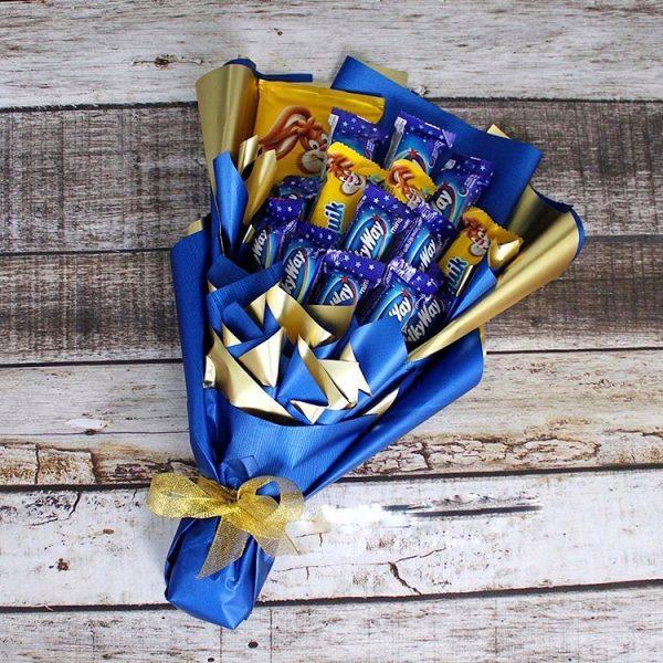 Букет с шоколадом — Детские букеты
