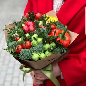Зеленый букет «Огород» — Съедобные букеты