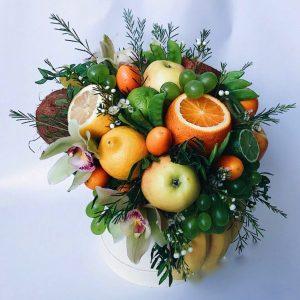 Коробка с фруктами «Милан» — Композиции