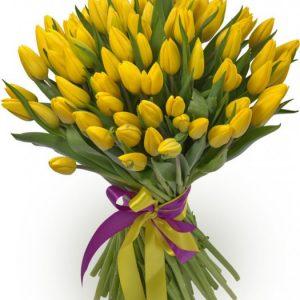 Букет из 75 тюльпанов — Тюльпаны