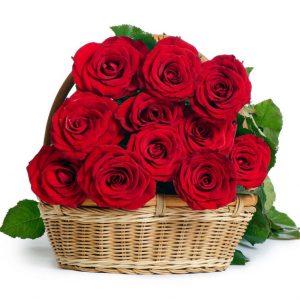 15 роз в корзине — Композиции
