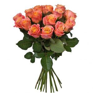 Букет из 15 персиковых роз — Букеты цветов