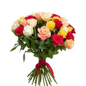 Букет из 15 ярких роз — Букеты цветов